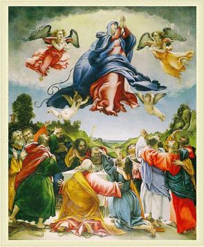 Assunzione della Vergine - Lorenzo Lotto a Celana