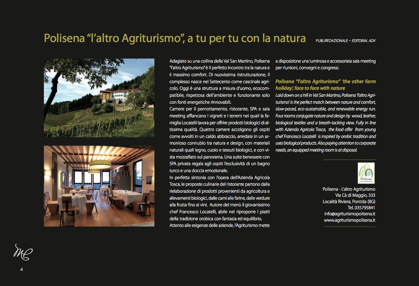 """Polisena """"l'altro agriturismo"""" su Milano Platinum 2013"""