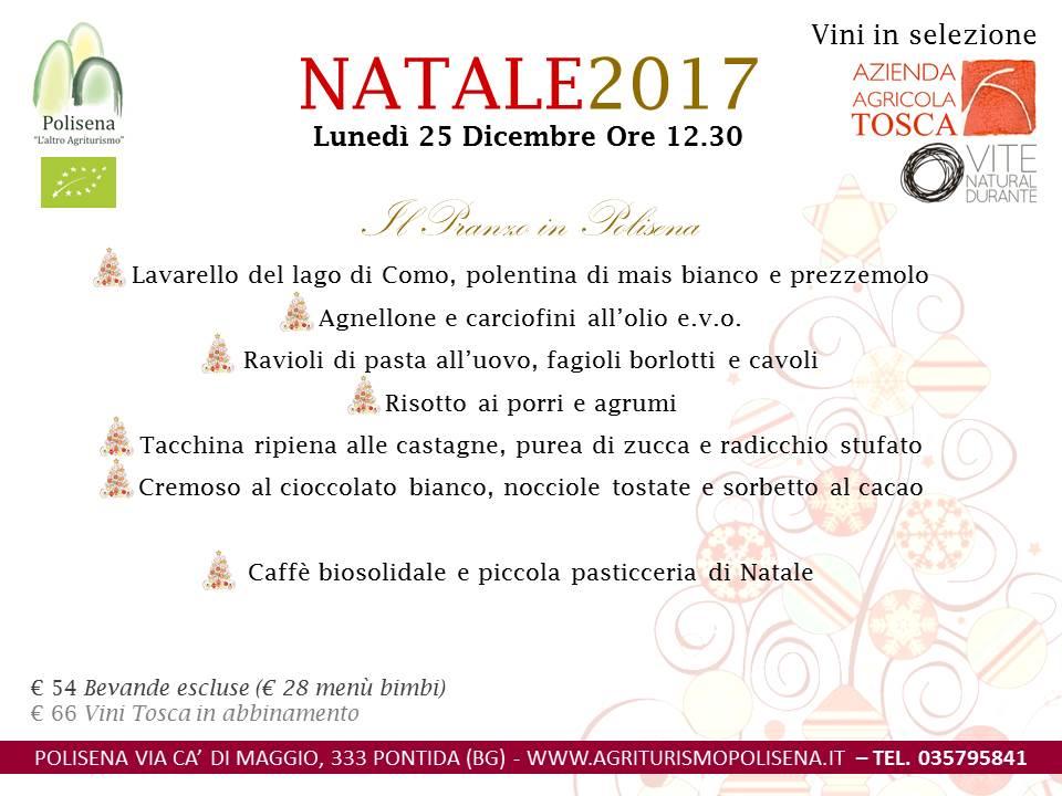 Menu Di Natale Bergamo.Pranzo Di Natale 2017 Agriturismo E Ristorante Biologico Polisena